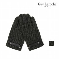 [Guy Laroche] Touch wave men leather combi gloves EGGLG10025
