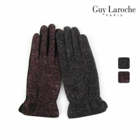 [Guy Laroche] Two tone slim fit women fur gloves EGGLG20039