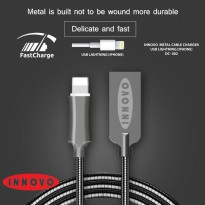 INNOVO Metal Kabel Charger Data Lightning Fast Charging 3.3A - DC082