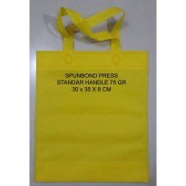 [LUSIN] Tas Kain Press Spunbond 75 gsm Standar Handle Polos Uk 30 x 35 x 8 cm