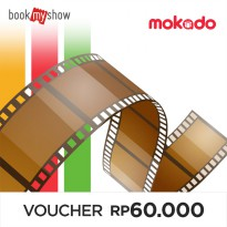 BookMyShow Disc. Movie Voucher for 1 Regular Ticket (Normal Price for 1 Ticket up to Rp. 60.000)