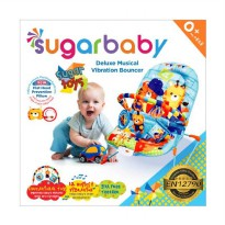 Sugar Baby Deluxe Musical Vibration Sugar Toys Baby Bouncher