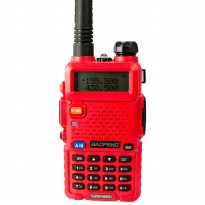 Radio Walkie Handy Talky HT BAOFENG POFUNG Dual Band UHF VHF UV-5R - Red