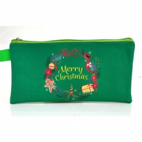 Mini Case Christmas Wreath Pencil Case Tempat Pensil Souvenir Natal