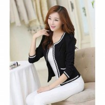 Evelyn Women Blazer With Lace Long Sleeve