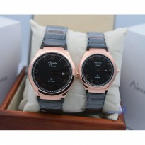 Alexandre Christie 8538 Rosegold Black Couple Original