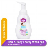 Sleek Baby Natural Antibacterial 2 in 1 Hair & Body Foamy Wash Botol 300 mL