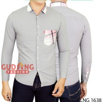 Men Long Sleeve Casual Shirts Clothing LNG 1638