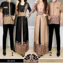 COUPLE BATIK ELEGANCE 2 WARNA BLACK MOCCA KATUN RAYON BEST SELLER