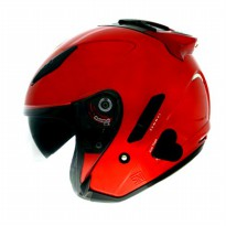 #Half Face Helm KYT Galaxy Slide Double Visor