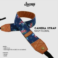 Camera Strap Navy Floral Tali Kamera Journey