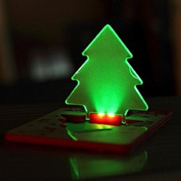 LAMPU LED Pocket Natal (Credit Card Shape LED Pocket Lamp)