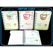 BUKU RING INDEX KECIL HEART MOST ME XB72K-1353