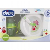 Piring Makan Set Chicco Meal Set Pappa 6+ BPA FREE ORIGINAL