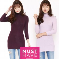 FVRB Women Turtle neck Ribbed Top