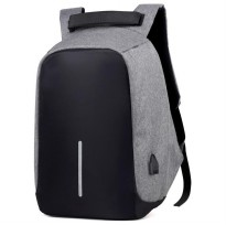 Tas Ransel Laptop Anti Maling dengan USB Charger Port - Gray