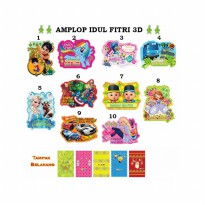 Amplop/Angpao 3D Idul Fitri Isi 5pc - HO3431W