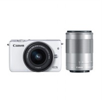 Canon EOS M10 Kit EF-M 15-45mm White Kamera Mirrorless with Canon 55-200mm Brand: Canon