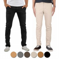 Chino Pants Slimfit / 6 Warna / Twill Stretch /Celana Panjang Chino