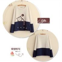 JAKET SWEATER SLEEPING CAT