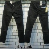 NUDIE JEANS dry black ring skinny fit + details