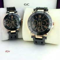 JAM TANGAN COUPLE GC (GUESS COLLECTION ) BLACK GOLD