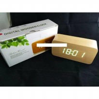 Jam Meja Digital Led Weker 012 cream green