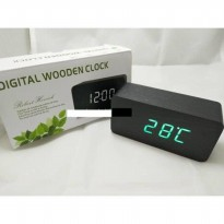 Jam Meja Digital Led Weker 012 black green