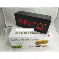 Jam Meja Digital Led Weker black red