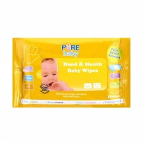Pure Baby Hand & Mouth wipes Tissue Basah Orange isi 10s