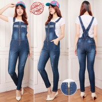 SB Collection Celana Panjang Rania Jumpsuit Overall Jeans Wanita
