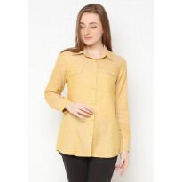 Mobile Power Ladies Long Sleeve Shirt  - Yellow A8418A