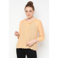 Mobile Power Ladies Long Sleeve Blouse - Orange B8274