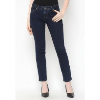 Mobile Power Ladies Straight Cut Long Pants Jeans - Blue C1270S