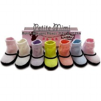 KAOSKAKI BAYI PETITE MIMI SOCKS 6IN1 WITH BOX | Size 3-12 Bulan | Motif: Girl