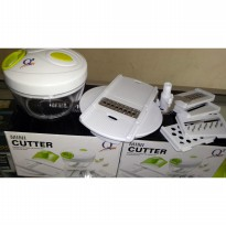 Mini Cutter Q2 P-202 Full Set / Alat multifungsi potong, giling, cacah