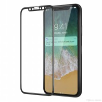 HMC Apple iPhone X - 5.8 inch - 2.5D Full Screen Tempered Glass - Lis Hitam