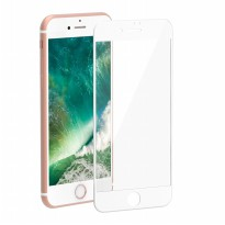 HMC Apple iPhone 8+ / 8 Plus - 5.5 inch - 2.5D Full Screen Tempered Glass - Lis Putih