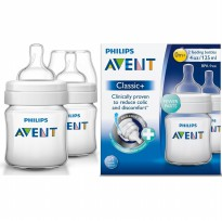 PHILIPS AVENT BABY CLASSIC BOTTLE 125ML TWIN PACK/ BOTOL SUSU DOT BAYI