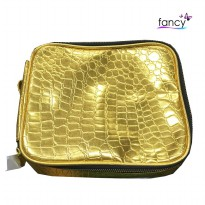 Cosmetic Bag Gold / Silver Revlon
