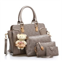 RECOMENDED!! High Quality Elegant Women Office Bag Limted Edition 4in1 BIGBAG