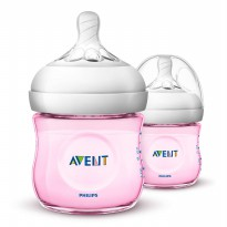 PHILIPS AVENT BABY NATURAL BOTTLE 125ML TWIN PACK/ BOTOL SUSU DOT BAYI - WARNA
