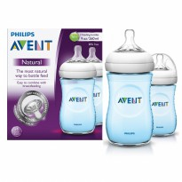 PHILIPS AVENT BABY NATURAL BOTTLE 260ML TWIN PACK/ BOTOL SUSU DOT BAYI - WARNA