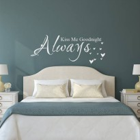 [globalbuy] Love Quote Vinyl Wall Decal Sticker Always Kiss me goodnight Bedroom Decor/3834941