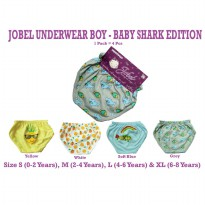 KAZEL JOBEL BOY'S UNDERWEAR BABY SHARK EDITION/ CELANA DALAM BAYI 4IN1
