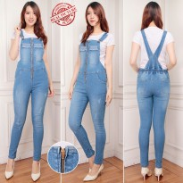 SB Collection Celana Panjang Rikaya Jumpsuit Overall Jeans Wanita