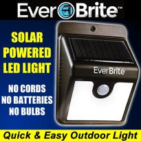 EVER BRITE SOLAR POWERED MOTION ACTIVATED LED SOLAR LIGHT