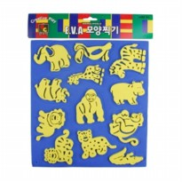 Kids Art EVA shaped like op-painted animal kingdom, role play, play, play stamp stamp art, play, play