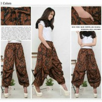 Cj collection Celana batik aladin panjang wanita jumbo long pant Abby