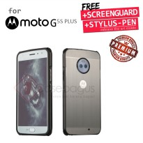 Motorola Moto G5S Plus G5S+ - Metal Bumper Case with Brushed Cover